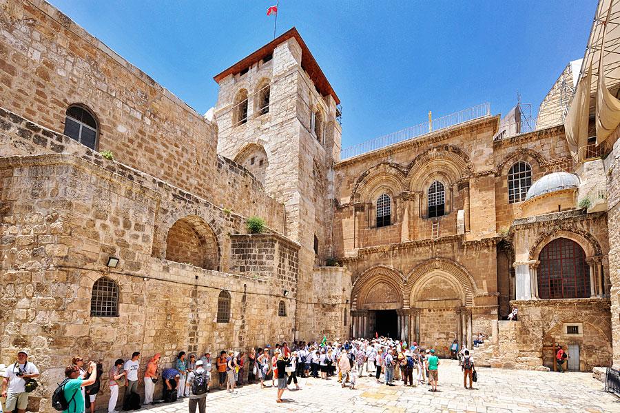 Die Grabeskirche in Jerusalem. (© Matthias Hinrichsen)