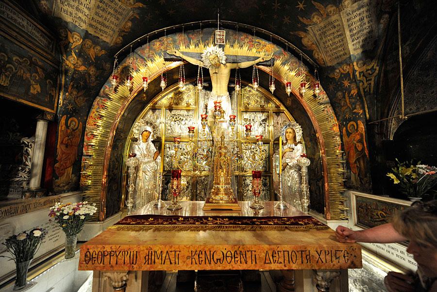 Station XI der Via Dolorosa ist der Kreuzannagelungsaltar in der Grabeskirche. (© Matthias Hinrichsen)