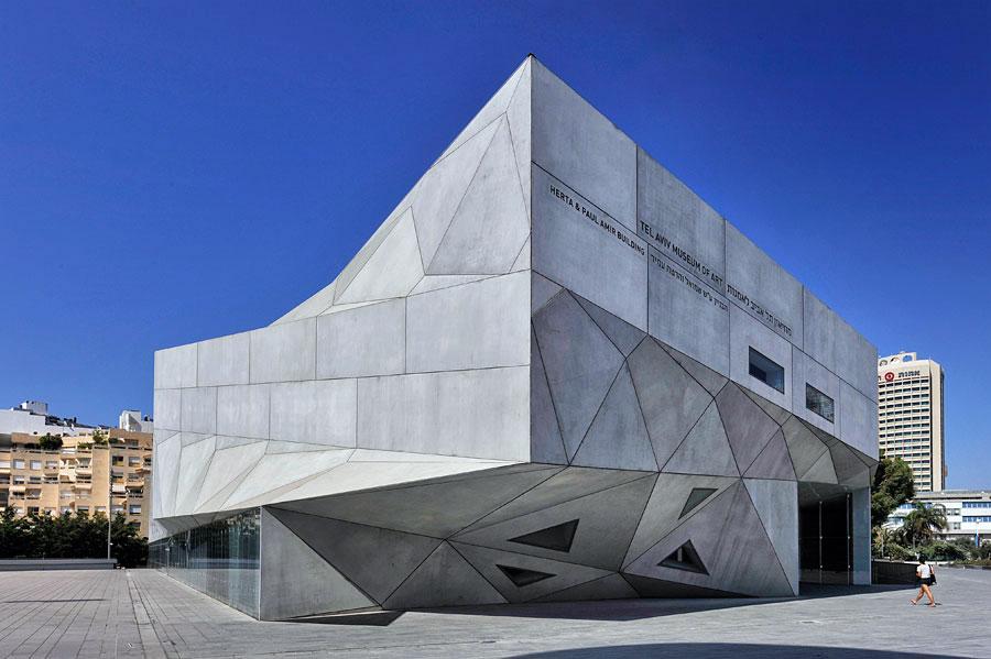 Das Tel Aviv Museum of Art hat seit 2011 einen neuen architektonische Star: das Herta and Paul Amir Building. (© Matthias Hinrichsen)