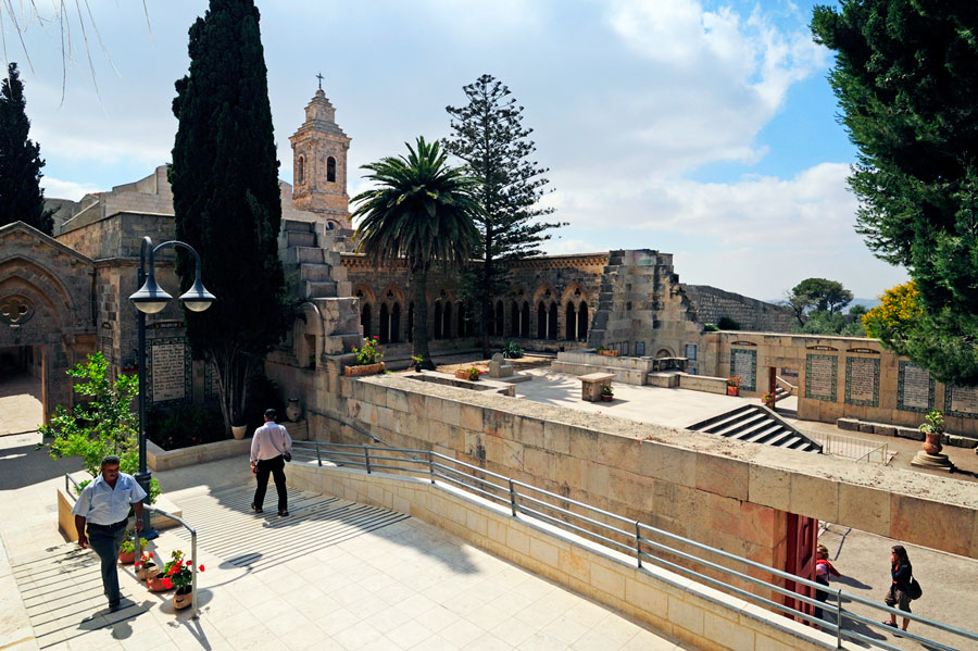 Die Paster Noster Kirche auf dem Ölberg in Jerusalem. (© Matthias Hinrichsen)