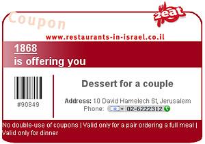 Für die meisten Restaurants können Sie sich einen Gutschein ausdrucken.