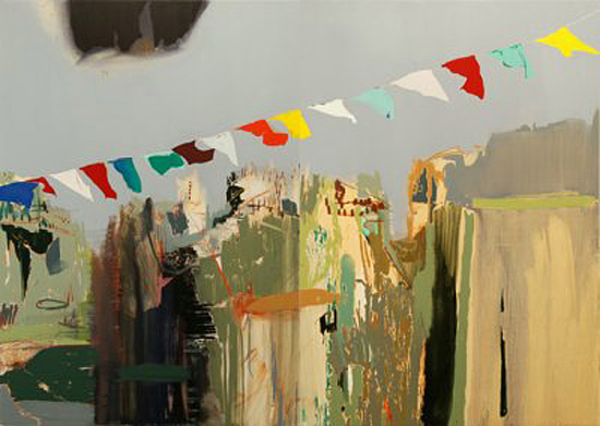 Matan Ben-Tolila: Flags; Öl auf Leinwand  160 x 224 cm - 2011 (© galerie61)