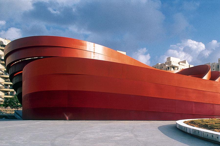 Das Design Museum Holon - Außenansicht. (© Yael Pincus/DMH)