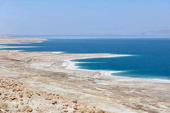 Totes Meer: tiefster Punkt der Erdoberfläche. (© Matthias Hinrichsen)