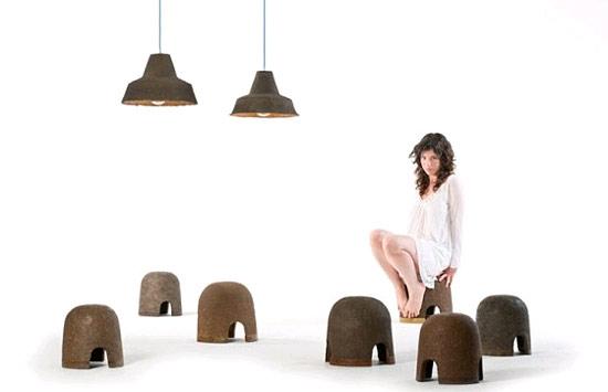 Adital Ela mit ihren Kreationen aus Kompost. (© Adital Ela)