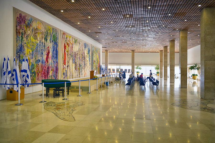Chagall-Saal in der Knesset Jerusalem.