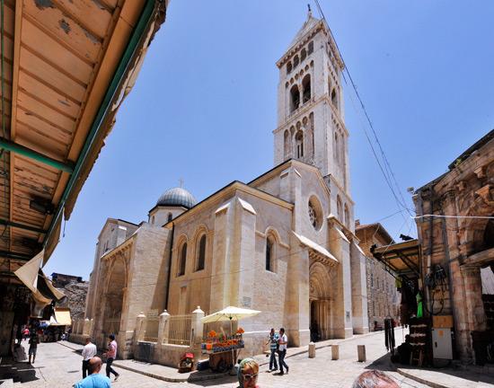Die Erlöserkirche im christlichen Altstadtviertel von Jerusalem. (© Matthias Hinrichsen)