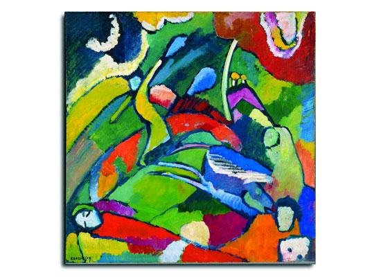 """""""Zwei Reiter und eine liegende Gestalt"""", Wassily Kandinsky, 1866–1944, Öl auf Pappe. (© ADAGP, Paris, 2013/Israel Museum)"""