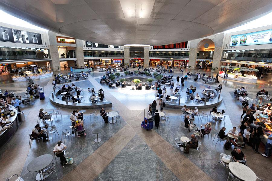 Abflughalle im Internationalen Flughafen Ben Gurion in Israel. (© Matthias Hinrichsen)