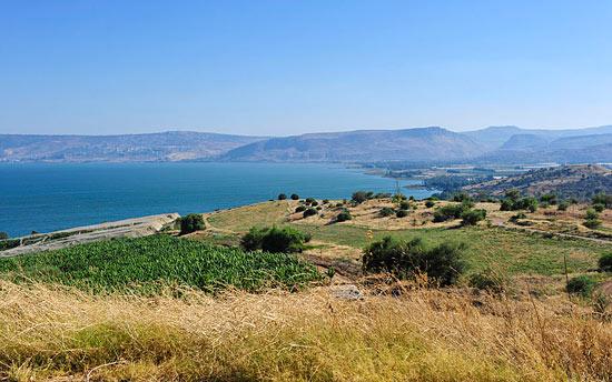 Blick vom Nordufer auf den See Genezareth im Galiläa. (© IsraelMagazin/Matthias Hinrichsen)