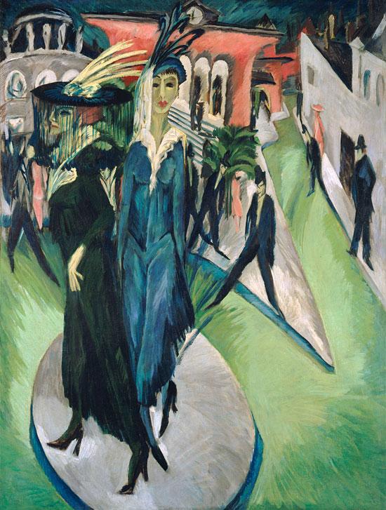 Potsdamer Platz von Ernst Ludwig Kirchner, 1914, Staatliche Museen zu Berlin, Nationalgalerie. (© VG Bild-Kunst, 2015)