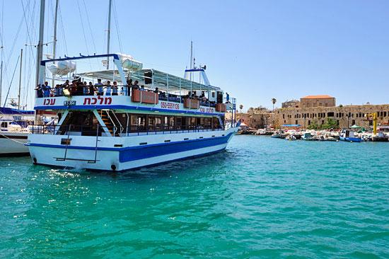 Schiffsverbindung Akko mit Haifa