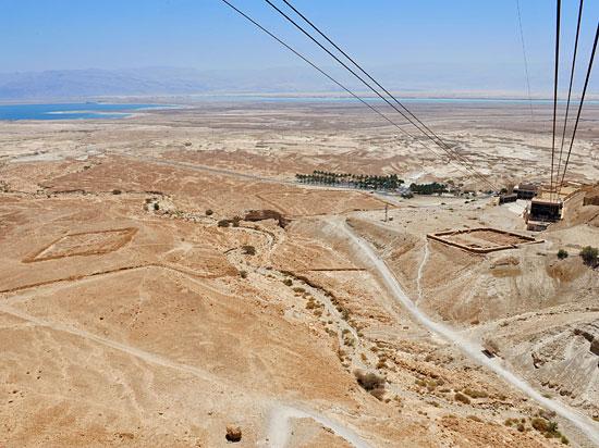Die einstigen Römerlager vor Masada. (© IsraelMagazin)
