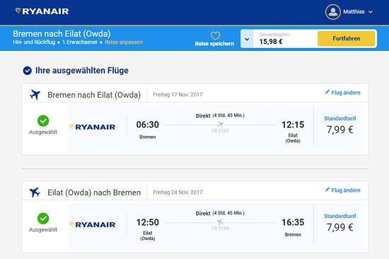 Ryanair bietet den absoluten Preishammer nach Israel an.
