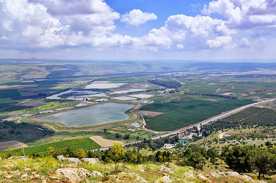 Das Hula-Tal in seiner vollen Ausdehnung im Norden Israels. (© Matthias Hinrichsen)