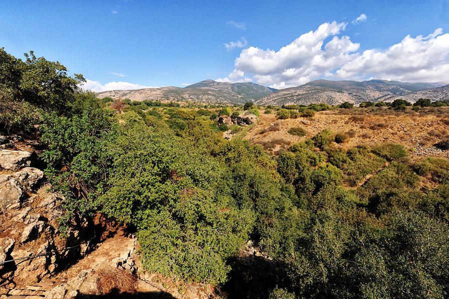 Das Banias-Tal liegt mitten in den landschaftlich reizvollen Ausläufern des Hermongebirges im Nordwesten Israels. (© Matthias Hinrichsen)