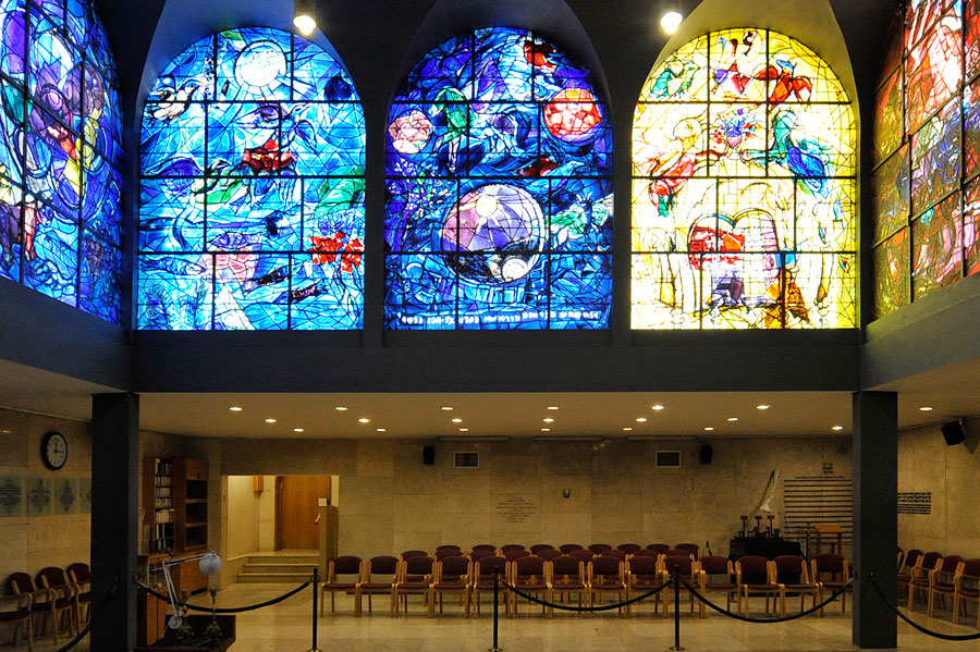 Chagall-Fenster Hadassah Ruben, Simeon und Levi