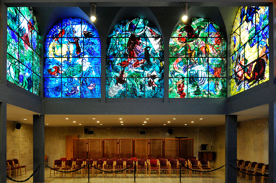 Chagall-Fenster Hadassah Dan, Gad und Asher