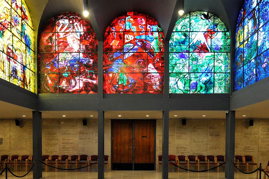 Chagall-Fenster Hadassah Judah, Zebulun und Issachar