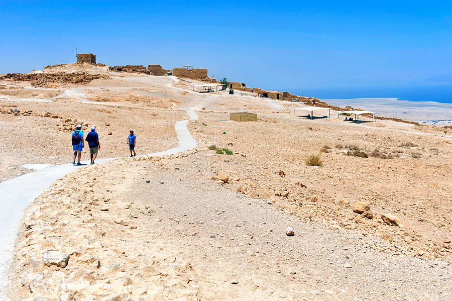 Auf dem Plateau von Masada lebten über 2.000 Menschen, angeführt von jüdischen Rebellen. (© Matthias Hinrichsen)