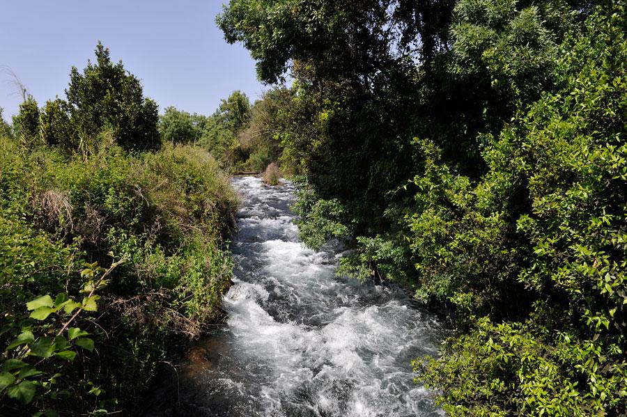 Tosend stürzen die Wassermassen des Dan Richtung Jordan. (© Matthias Hinrichsen)