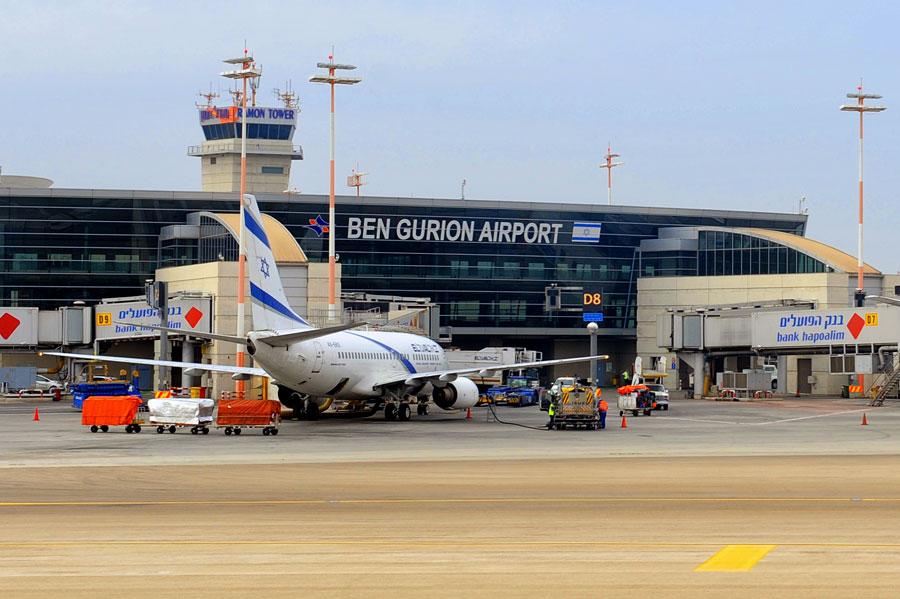 Der Internationale Flughafen Ben Gurion ist Drehkreuz für alle Fluggesellschaften, die nach Israel fliegen. (© Matthias Hinrichsen)