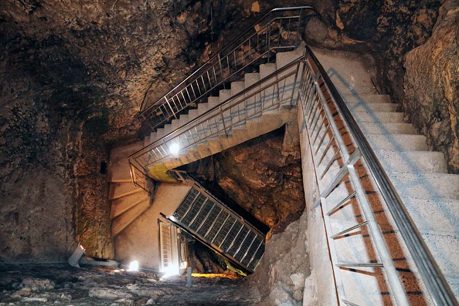 In 25 Meter Tiefe befindet sich die Wasserentnahmestelle des historischen Tel Megiddo. (© Matthias Hinrichsen)