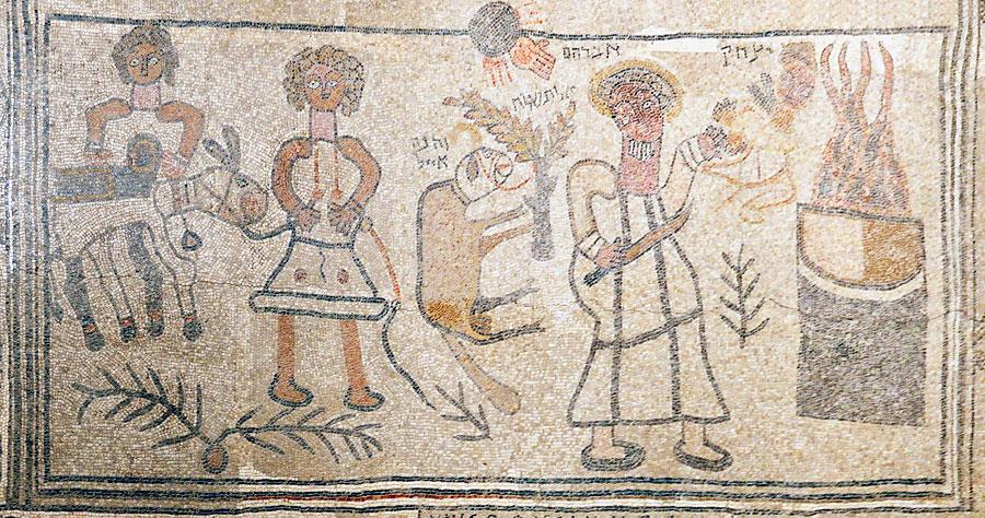 Bet Alpha: Der einmalige Erhaltungszustand und die markanten Szenen und Darstellungen sind ein Kleinod der frühen Mosaikkunst in Israel. (© Matthias Hinrichsen)