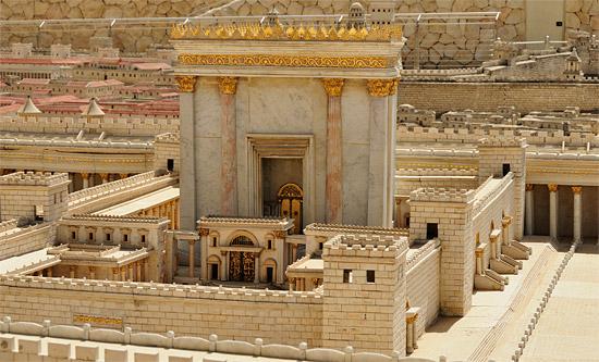 Modell des Zweiten Tempels im Israel Museum Jerusalem. (© Matthias Hinrichsen)