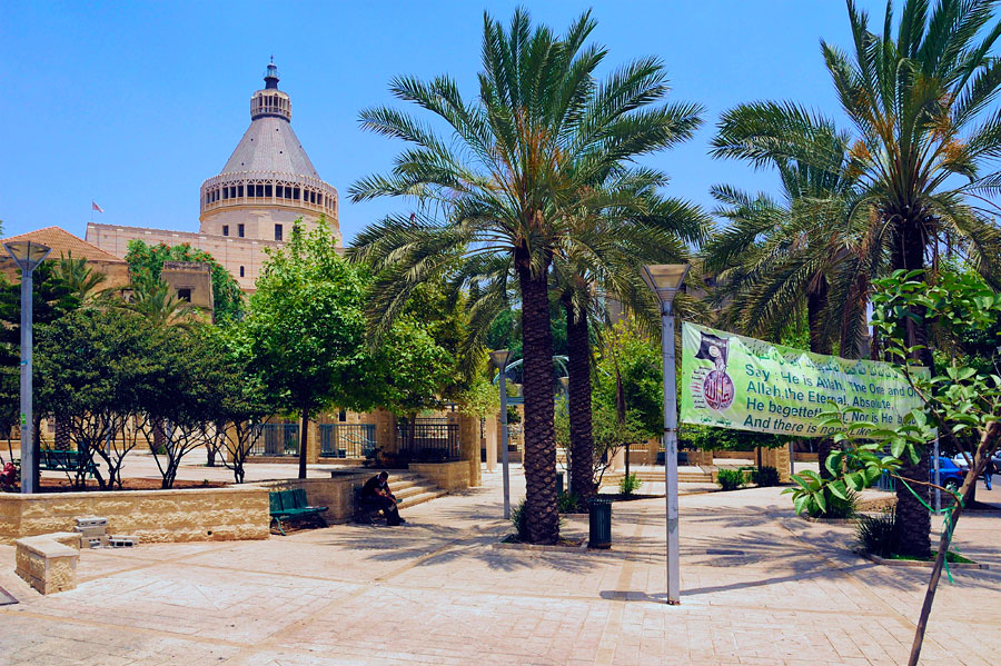 Die Verkündigungsbasilika ist das größte Kirchengebäude in Nazareth. (Foto: Matthias Hinrichsen)