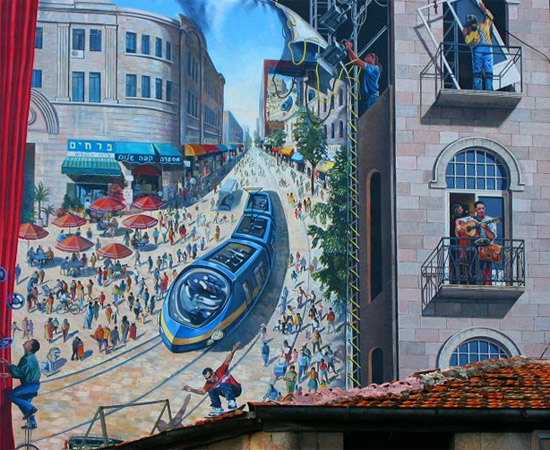 Hausmalerei in Jerusalem. (© Matthias Hinrichsen)