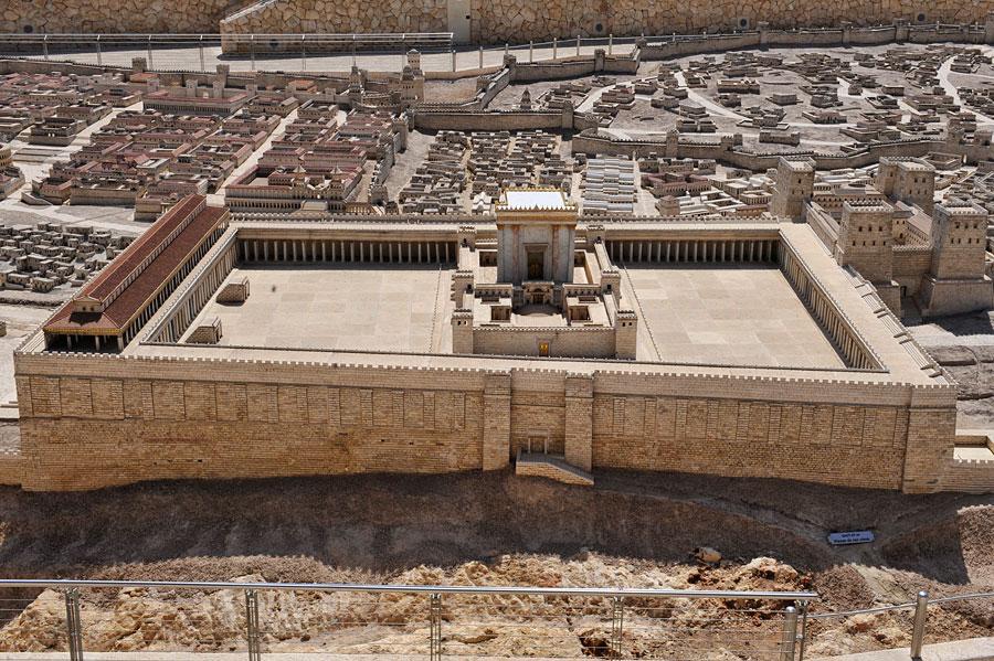 Modell Des Zweiten J 252 Dischen Tempels Der Von Herodes