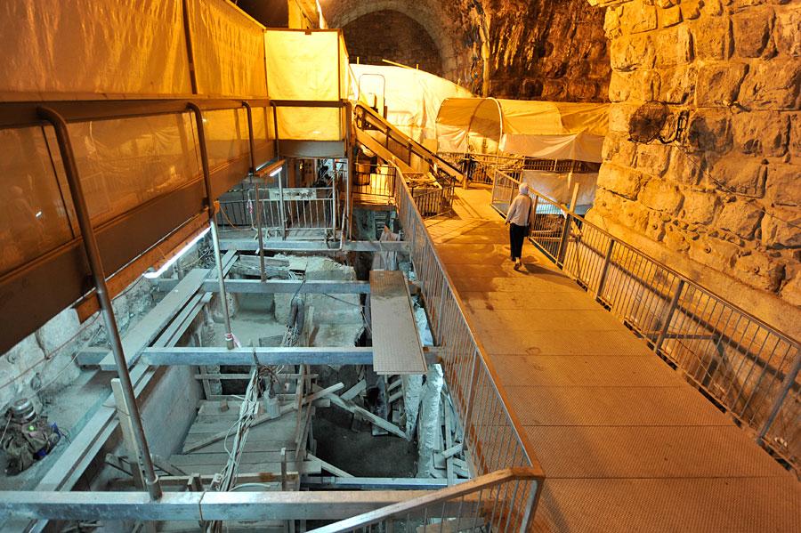 Ausgrabungen Klagemauer-Tunnel Jerusalem
