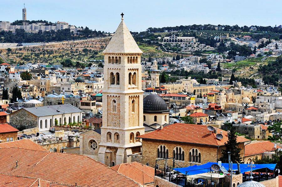 Die Erlöserkirche in Jerusalem wurde 1898 durch Kaiser Wilhelm II. eingeweiht. (© Matthias Hinrichsen)