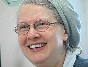 Manuela Bleibergs, Chefin des koscheren Cafés. (Foto: ARD)
