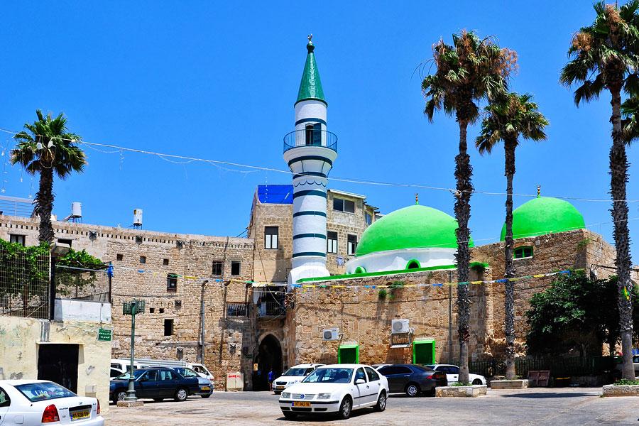 Die Al-Seituna-Moschee in der Altstadt von Akko. (© Matthias Hinrichsen)