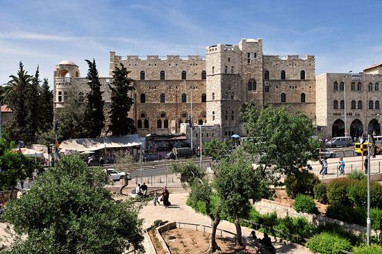 Das katholische Paulus Haus in Jerusalem ist für Pilger und Reisende eine ausgezeichnete Adresse für gepflegte und saubere Unterkunft. (© Matthias Hinrichsen)
