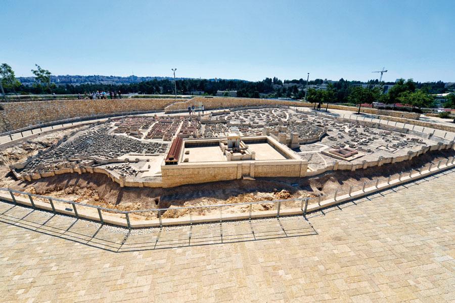 Das Modell Jerusalems zur Zeit des Zweiten Tempels zeigt eindrucksvoll die städtebauliche Struktur damaliger Zeit. (© Matthias Hinrichsen)