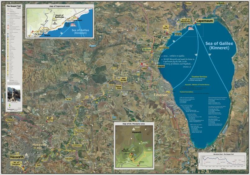 Karte Gospel Trail