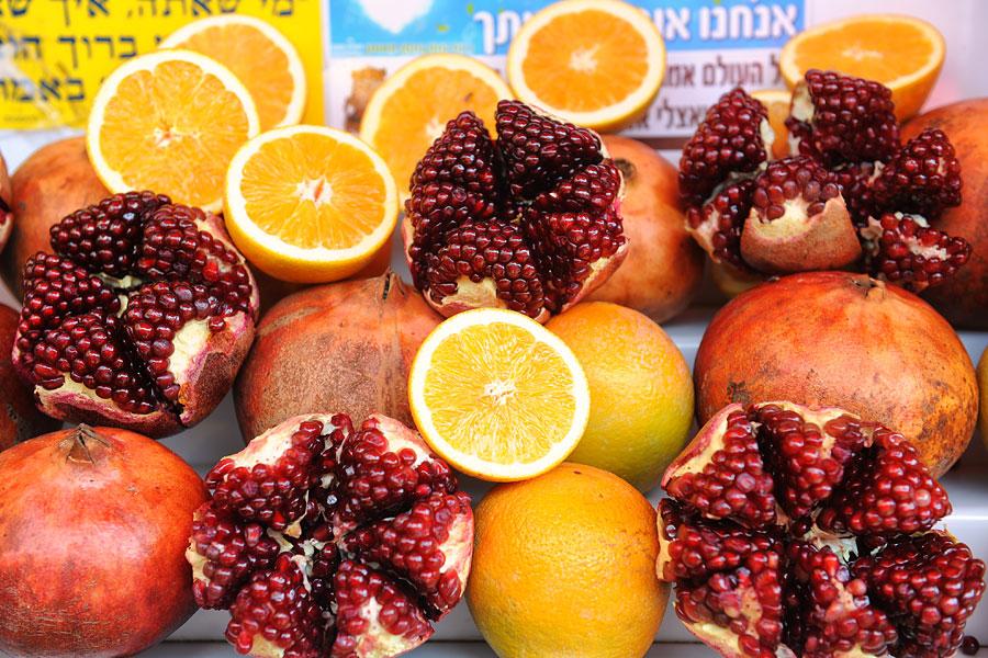 Die Anzahl der Kerne im Granatapfel variieren, weil es sich um ein Naturprodukt handelt. (© Matthias Hinrichsen)
