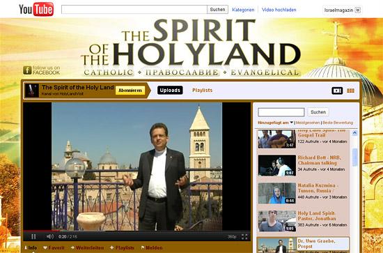 Neuer YouTube-Kanal des israelischen Tourismusministeriums für Christen.