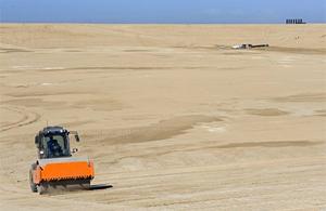 Hier entsteht das Tifrah Reservoir in der Negev-Wüste. (Foto: Nataly Kadosh, © KKL Jerusalem)