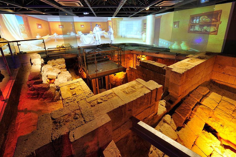 Im Besucherzentrum von Jaffa zeigt eine animierte Ausstellung die Geschichte Jaffas. (© Matthias Hinrichsen)