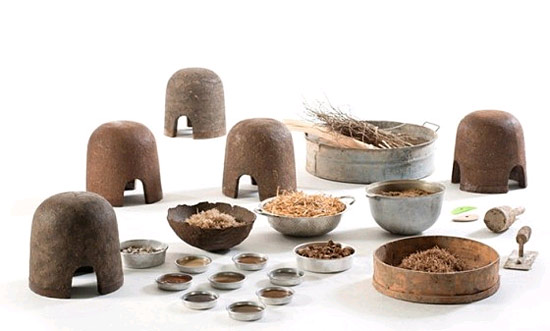Die Zutaten für die Grundmasse sind zu 100 Prozent natürliche Materialien. (© Adital Ela)