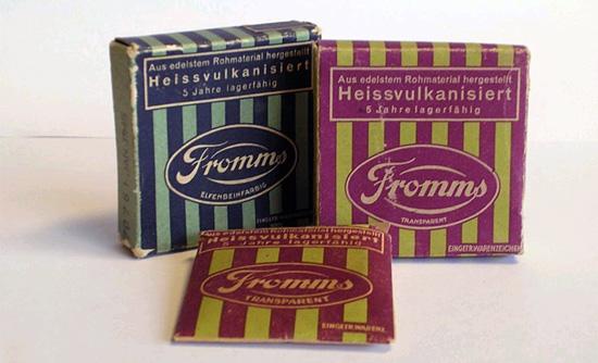 So sahen sie mal früher aus: Fromms Kondome. (© Fromms FF)