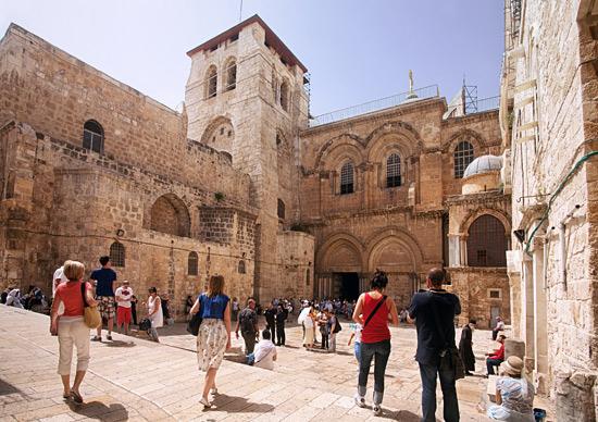 Die bedeutendste Kirche der Welt: die Grabeskirche in Jerusalem. (© Israelisches Verkehrsbüro)
