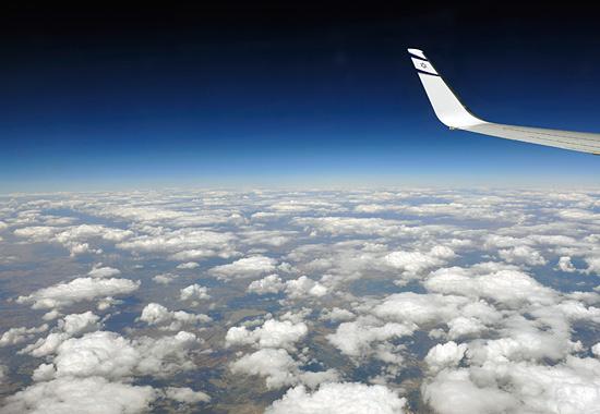 Mit EL AL auf dem Weg nach Israel. (© Matthias Hinrichsen)