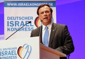 JNF-KKL Weltpräsident Efi Stenzler während seiner Rede beim Israelkongress. (© Bastian Glumm/JNF-KKL)