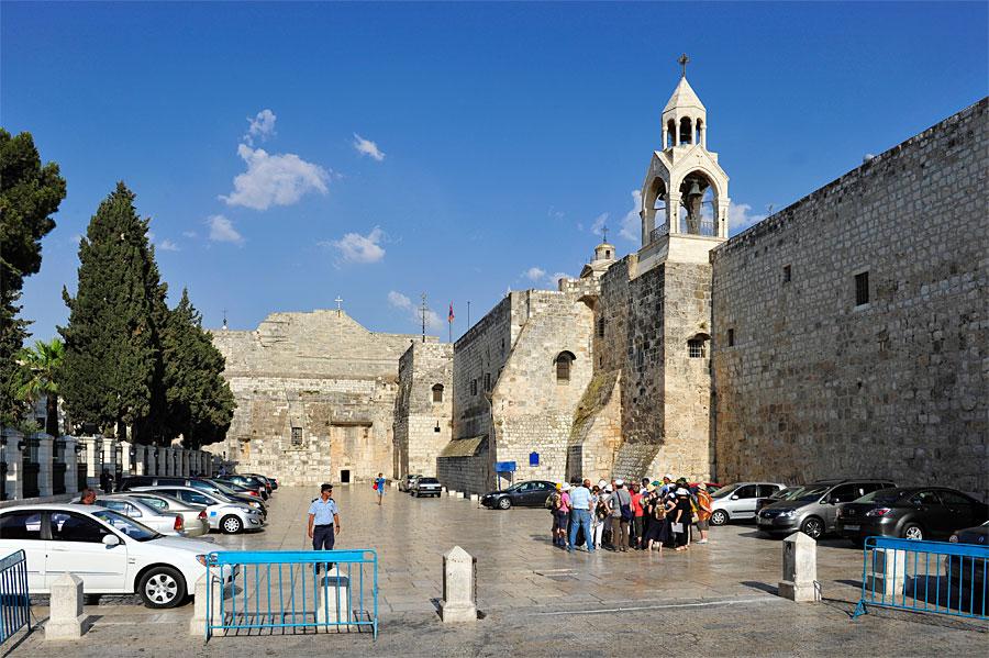 Vorplatz der Geburtskirche in Bethlehem.