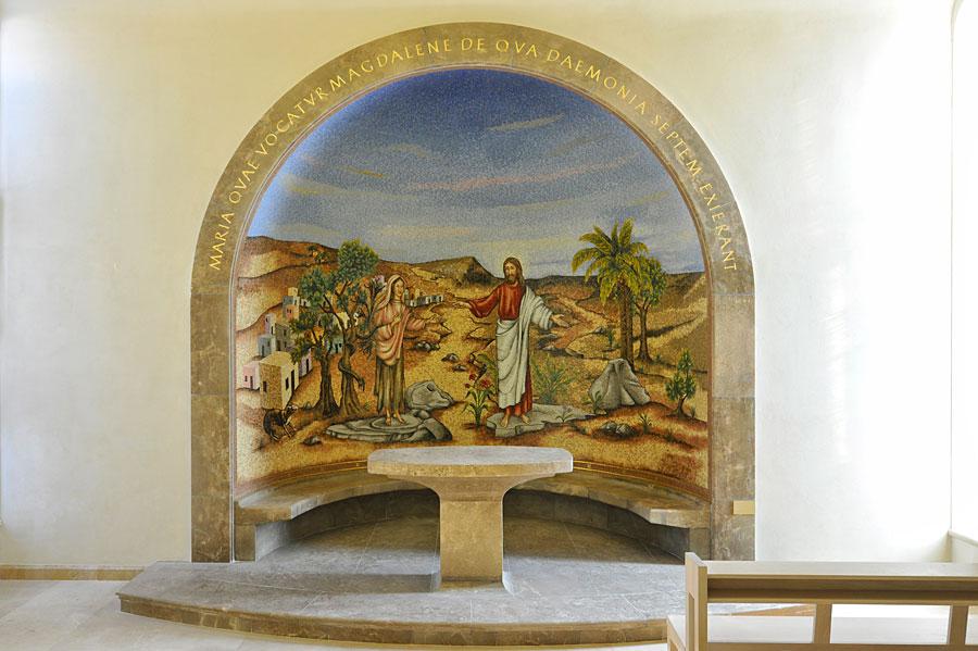 Gemälde im Inneren mit der Darstellung Jesu und Magdalena. (© Matthias Hinrichsen)